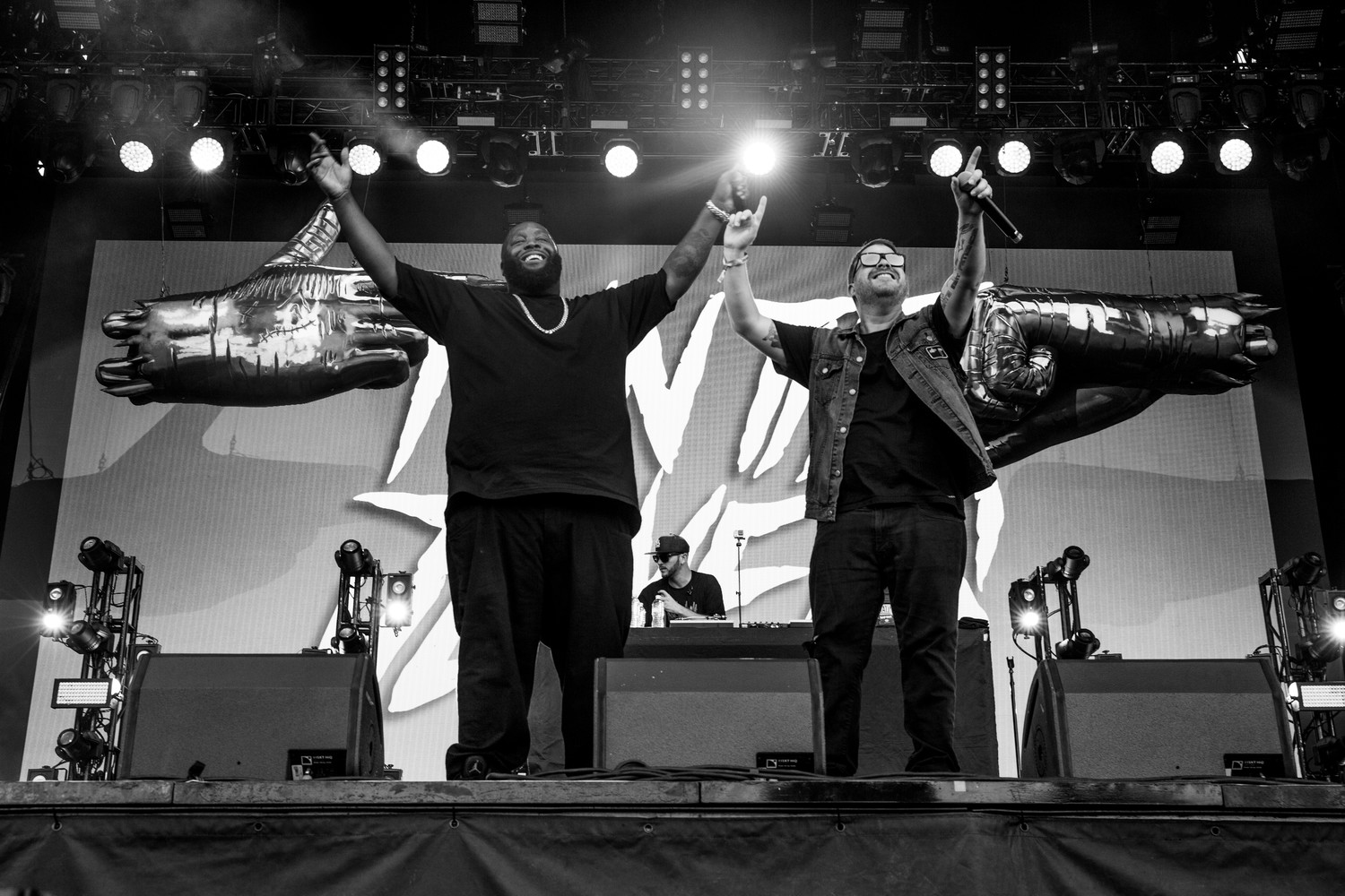 Run the Jewels perform at Austin City Limits Music Festival, Sunday, Oct. 8, 2017.
