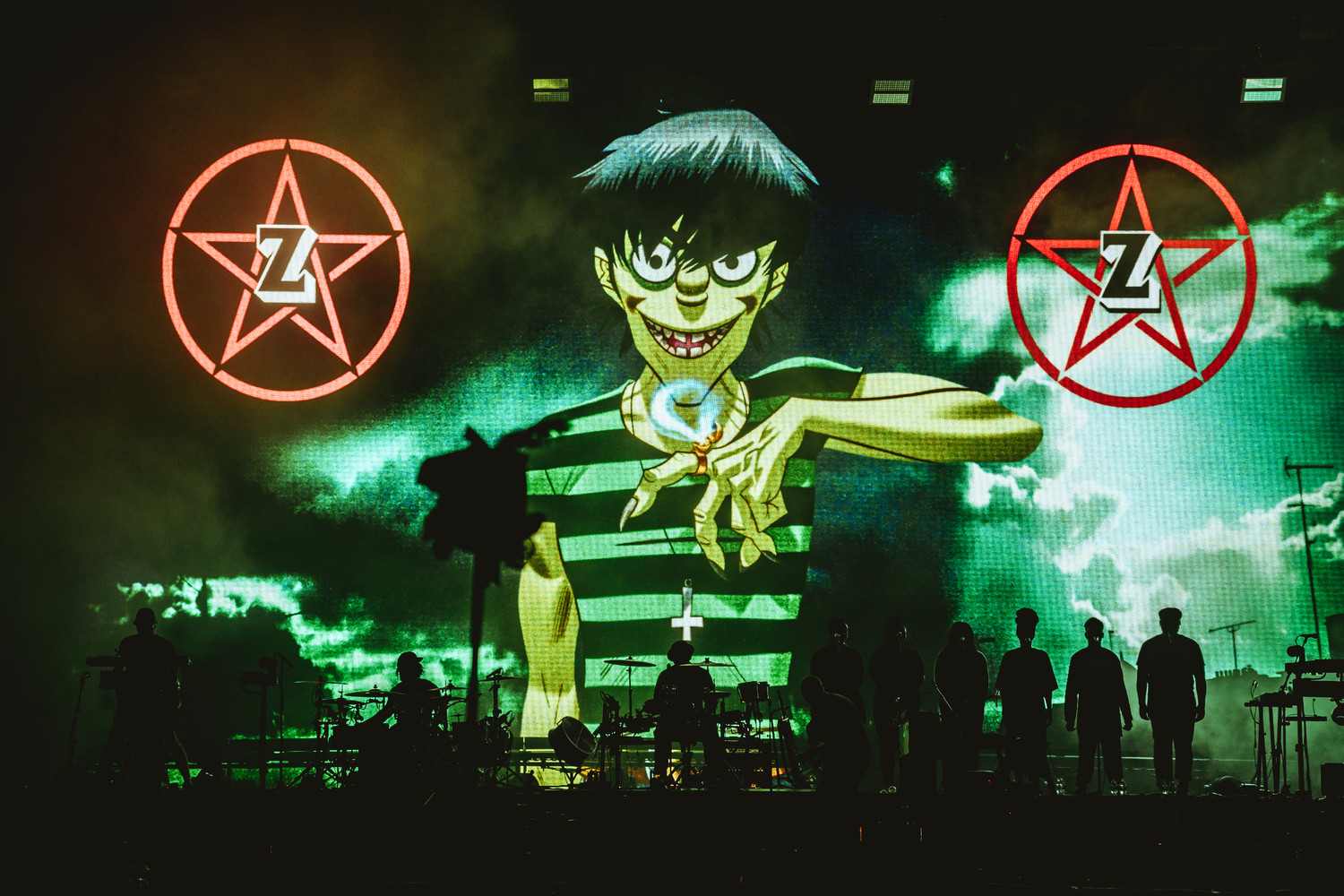 Gorillaz perform at Austin City Limits Music Festival, Sunday, Oct. 8, 2017.