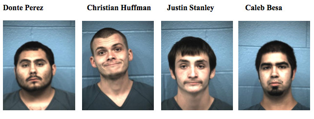 Officers were able to locate four of the five suspects in the shooting, who have been booked into the Williamson County Jail and charged with aggravated robbery and aggravated assault with a deadly weapon.