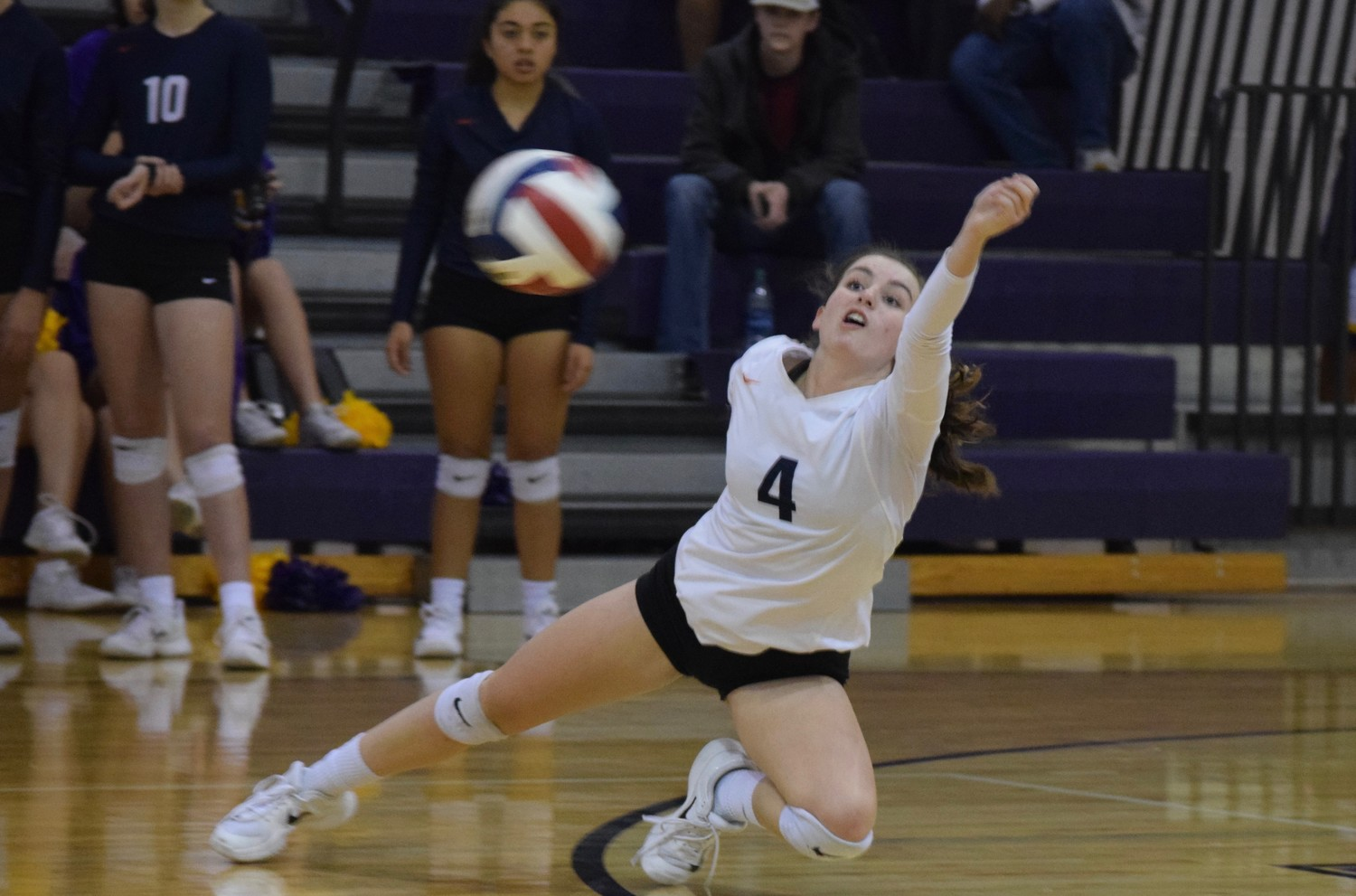 Olivia Langdon and the Lady Grizzlies lost to La Grange 3-0 in the first round of the volleyball playoff Tuesday night. It was the first ever postseason appearance for a team from Glenn.