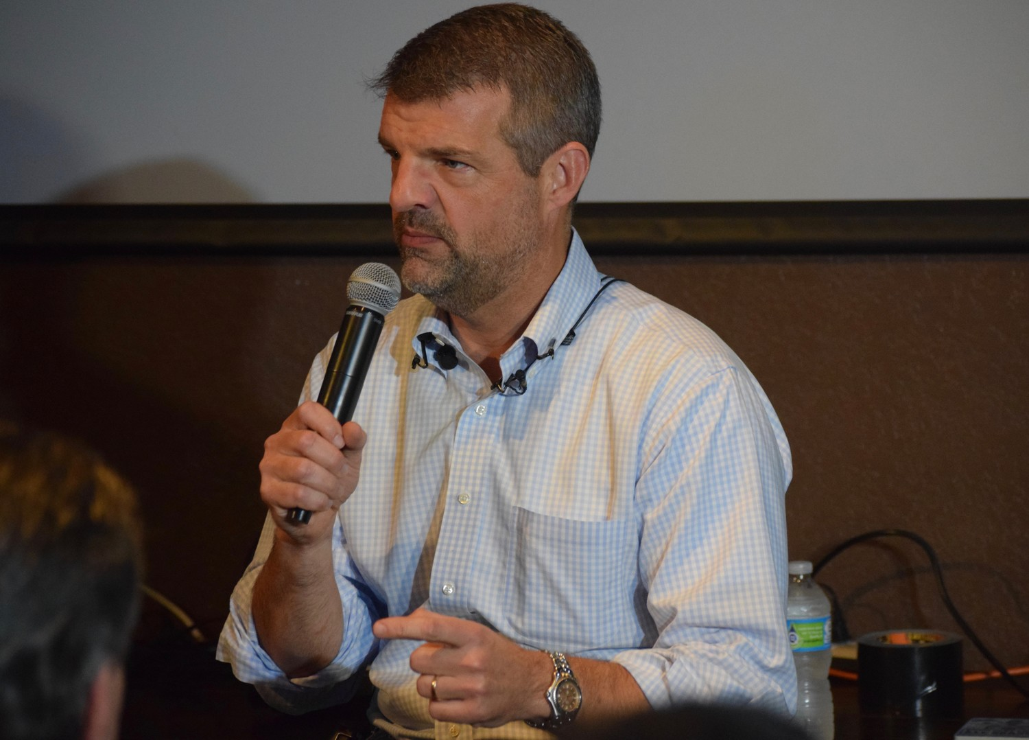 Precourt Sports Ventures president Dave Greeley spoke to Austin MLS supporters Wednesday night about Columbus Crew SC's potential move to Austin in 2019.