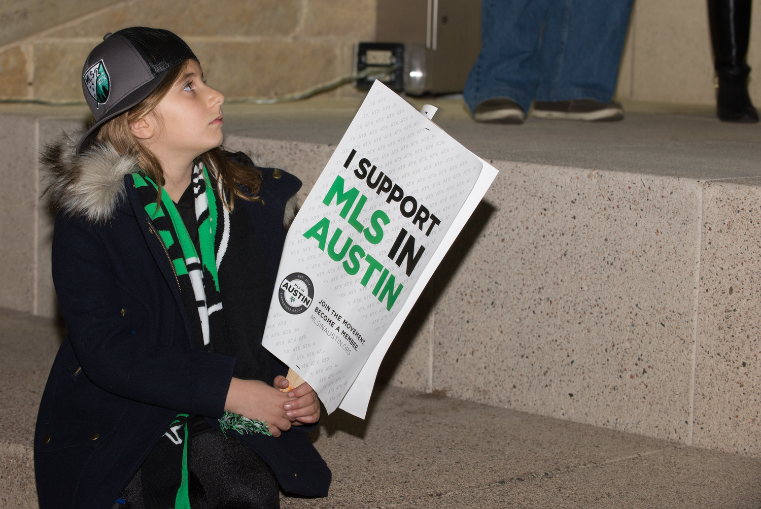 The Austin City Council passed a resolution instructing staff to locate city-owned sites for a potential stadium soon after an MLS2ATX supporters rally outside at City Hall on Thursday.