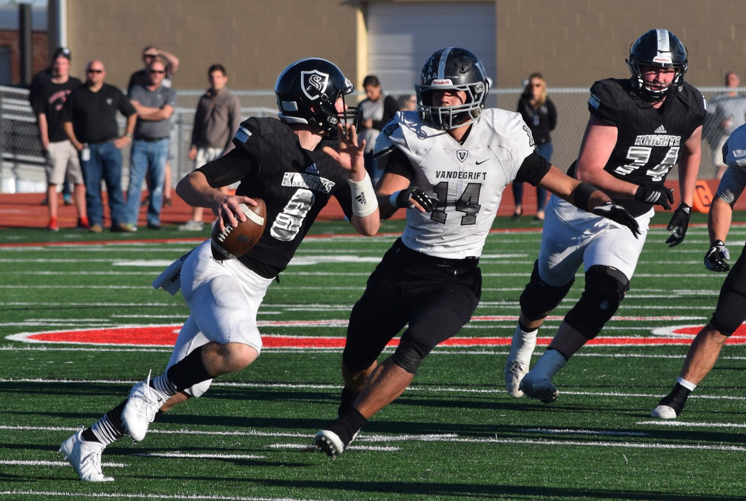 Evryn Smith and Vandegrift lost to Cibolo Steele 36-18 in the area round of the playoffs Friday in New Braunfels.