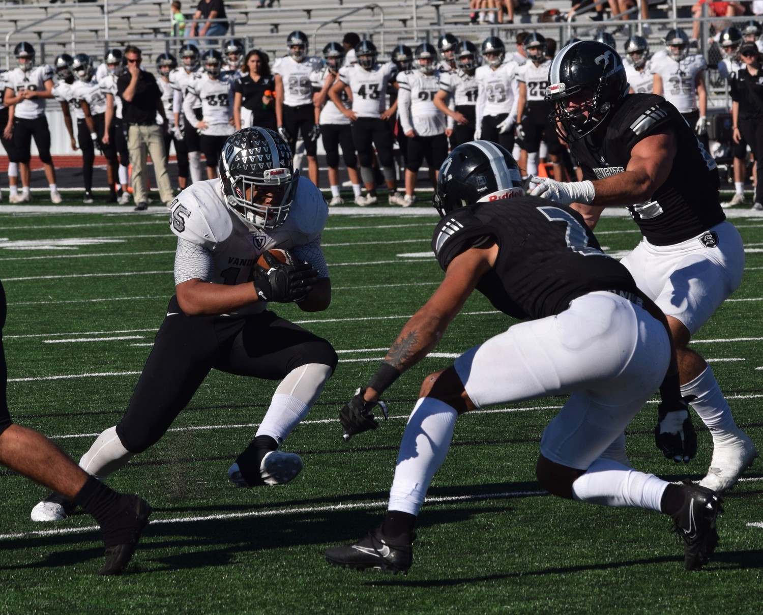 Isaiah Smallwood and Vandegrift lost to Cibolo Steele 36-18 in the area round of the playoffs Friday in New Braunfels.