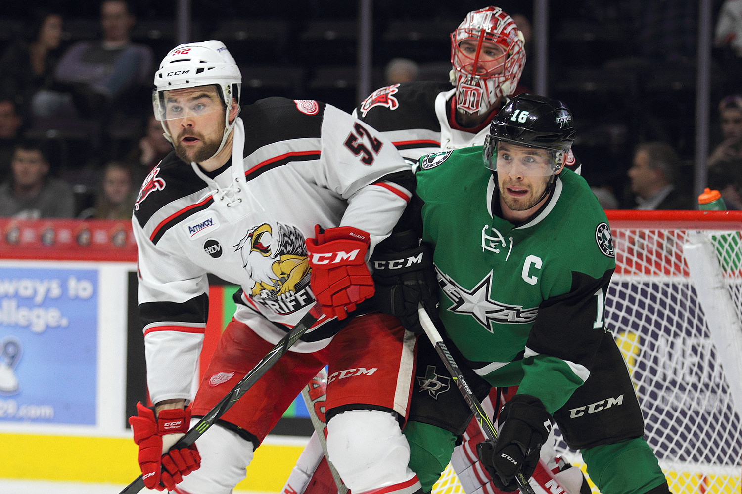 Curtis McKenzie scored three goals and the Texas Stars beat the Grand Rapids Griffins 5-2 on Wednesday night.