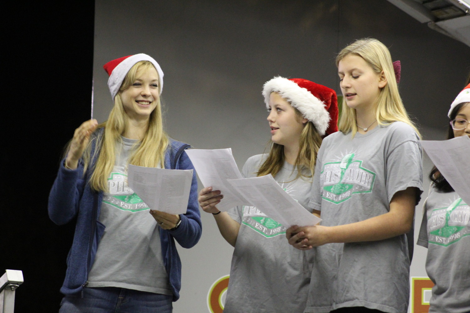 The Cedar Park High School women's choir sang traditional Christmas carols during the Cedar Park Holiday Tree Lighting & Santa's Workshop event.
