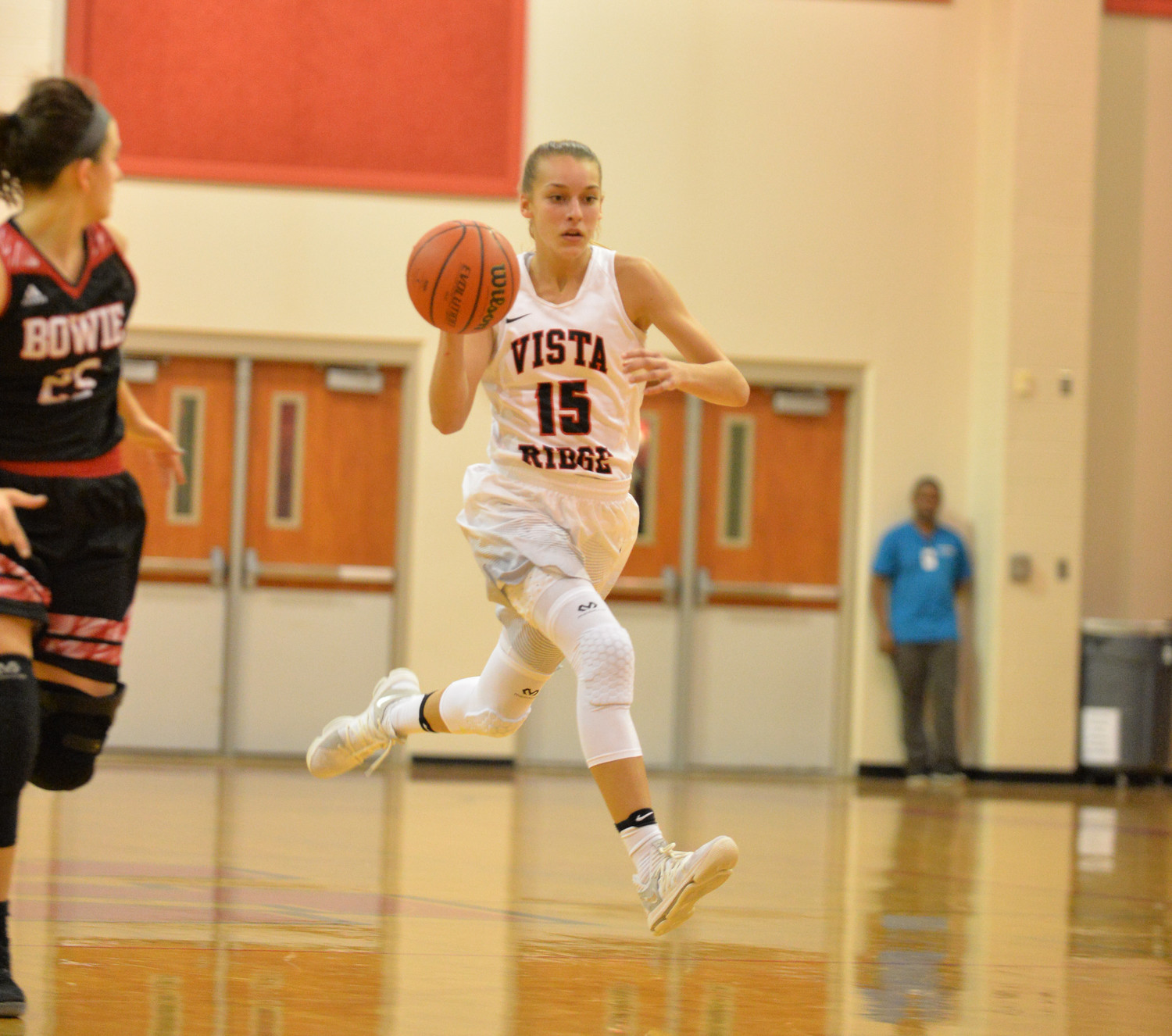 Vista Ridge freshman A.J. Marotte has cracked the starting lineup in the early part of the season. The Lady Rangers have six underclassmen playing key roles on the team this year.