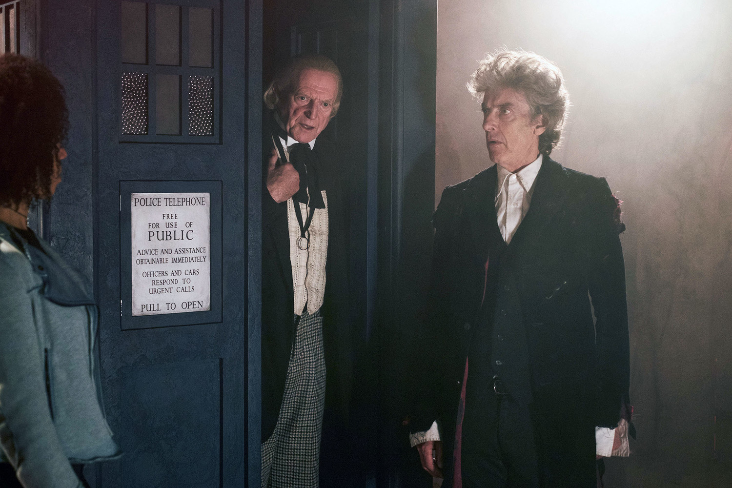 Bill (PEARL MACKIE), The First Doctor (DAVID BRADLEY), The Doctor (PETER CAPALDI)