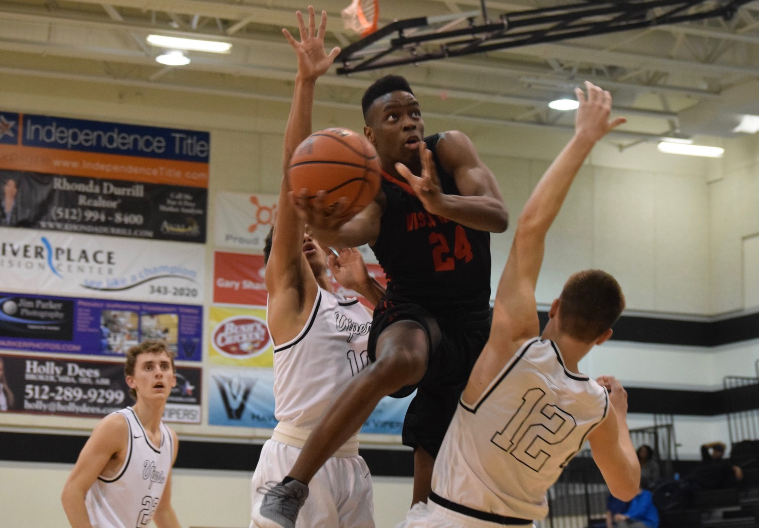 Darius McBride scored 18 points for Vista Ridge, but the Rangers lost to Vandegrift 77-73 in overtime on Tuesday night.