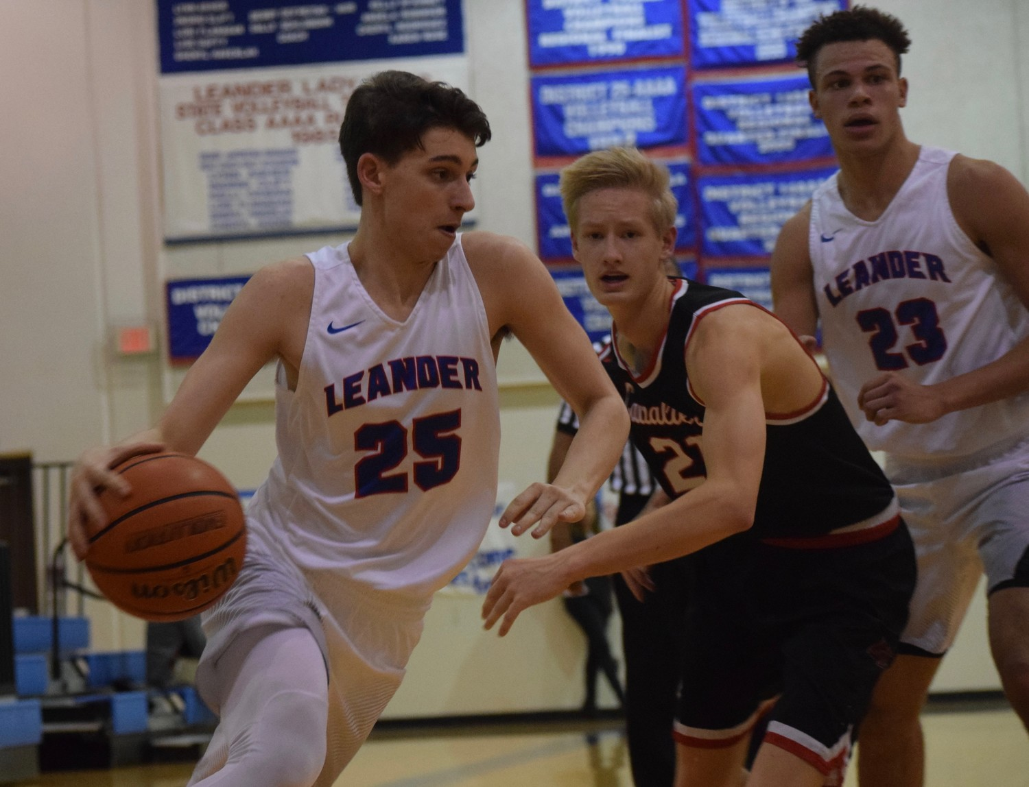 Christ Jones and Leander lost to Lake Travis 49-45 at home Friday night.