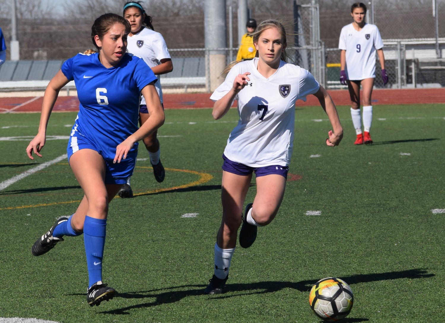 Senior Marissa Porras returned to the Leander girls' soccer team this season after spending last year with the upper-level club team.