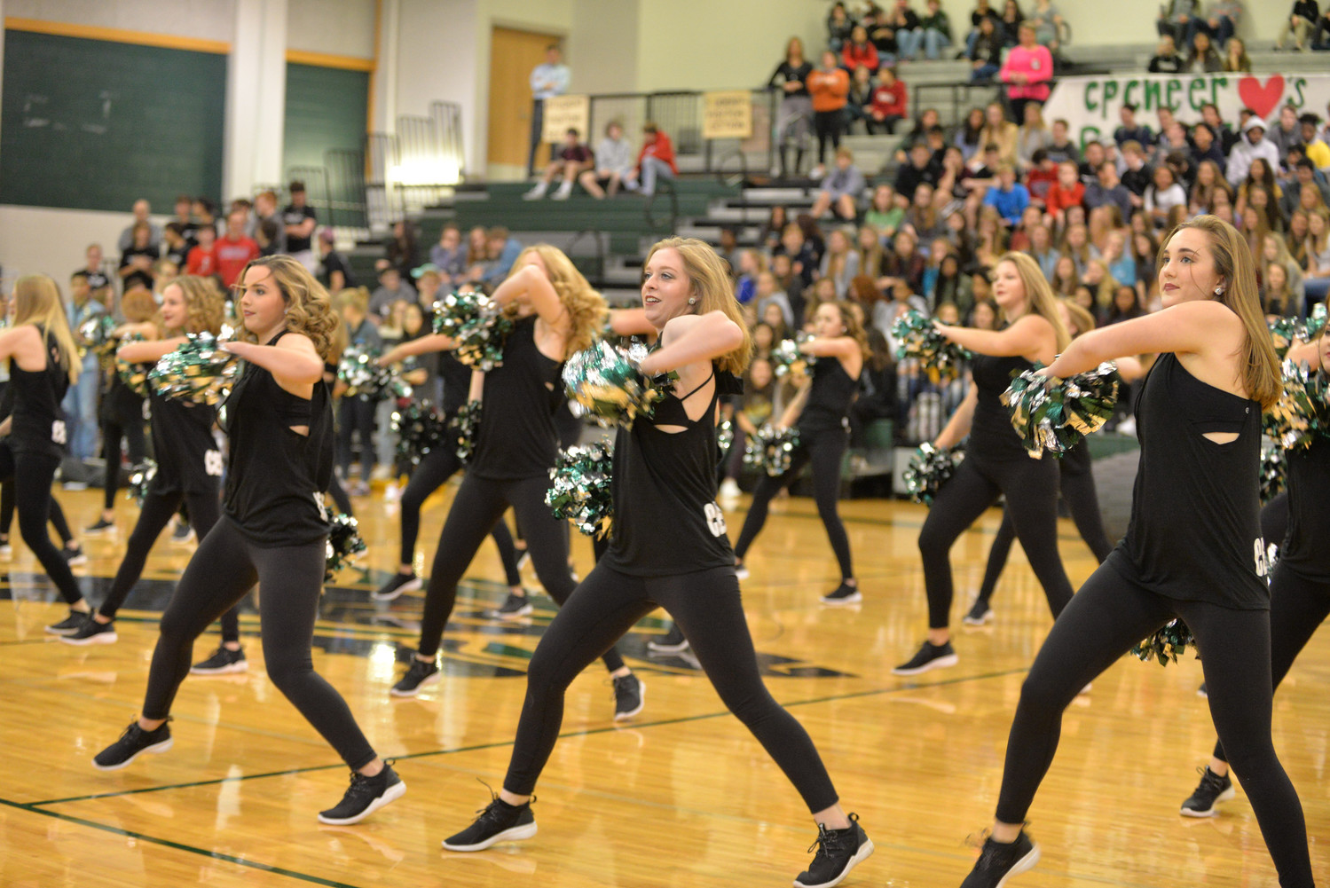 CPHS Dance Team performs for the cheer team during their school pep rally, Tuesday, Jan. 23.