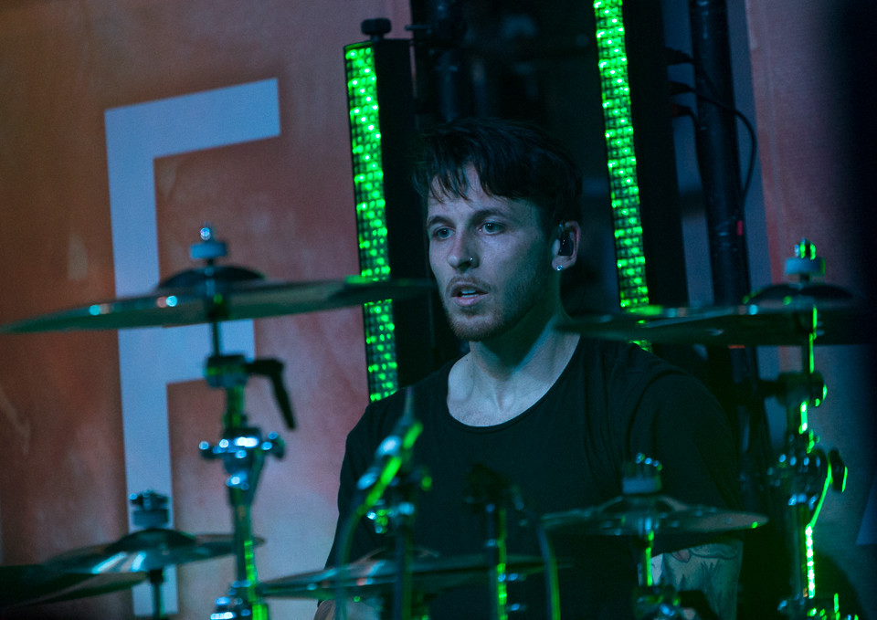 Drummer Mat Madiro of From Ashes to New performs at Come and Take It Live on January 23, 2018 in Austin, Texas.