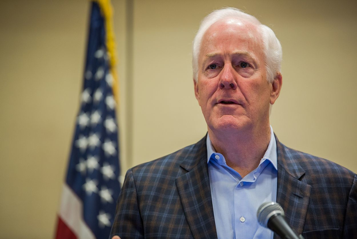 U.S. Sen. John Cornyn speaks at the Texas State Rifle Association general meeting in Round Rock on Feb. 25, 2017.