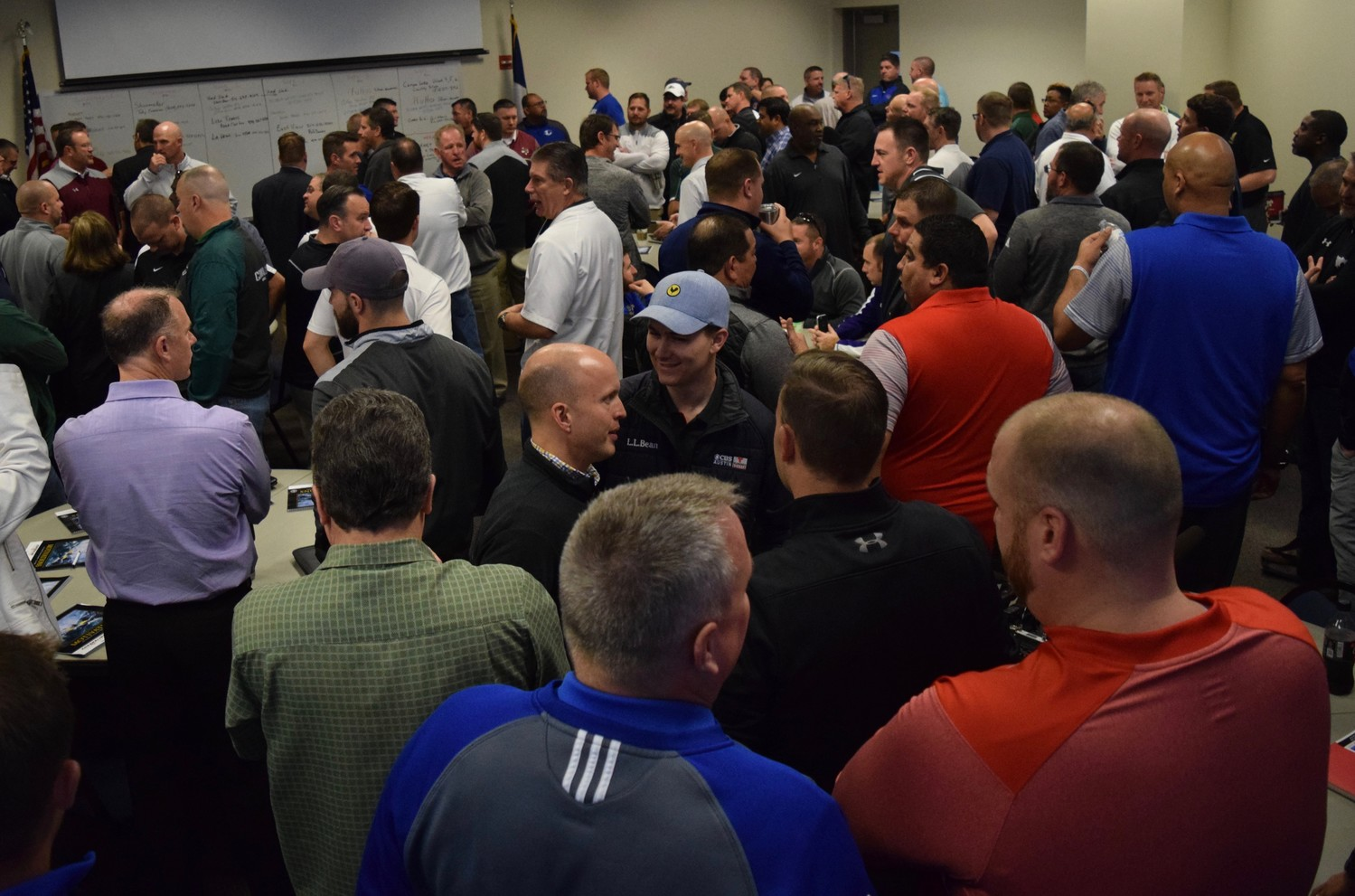 Coaches met at Kelly Reeves Athletic Complex on Thursday morning to learn what districts they would be a part of for the next two seasons.