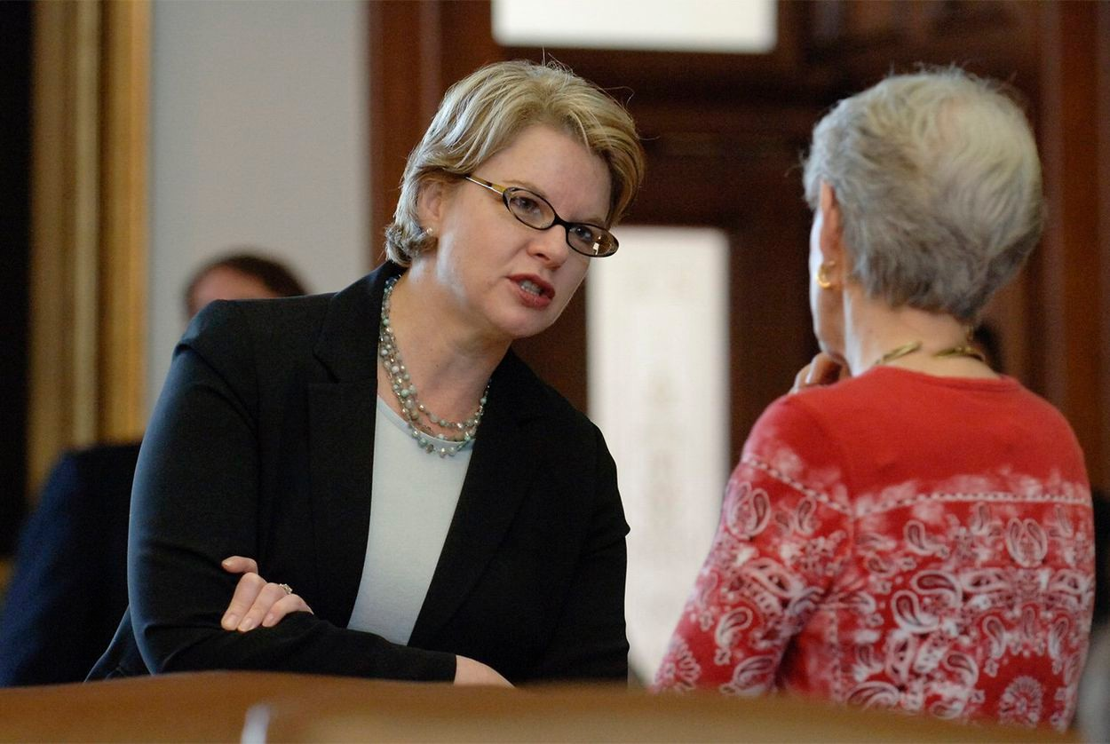 Then-U.S. Secretary of Education Margaret Spellings at the Texas Capitol on Oct. 30, 2005.