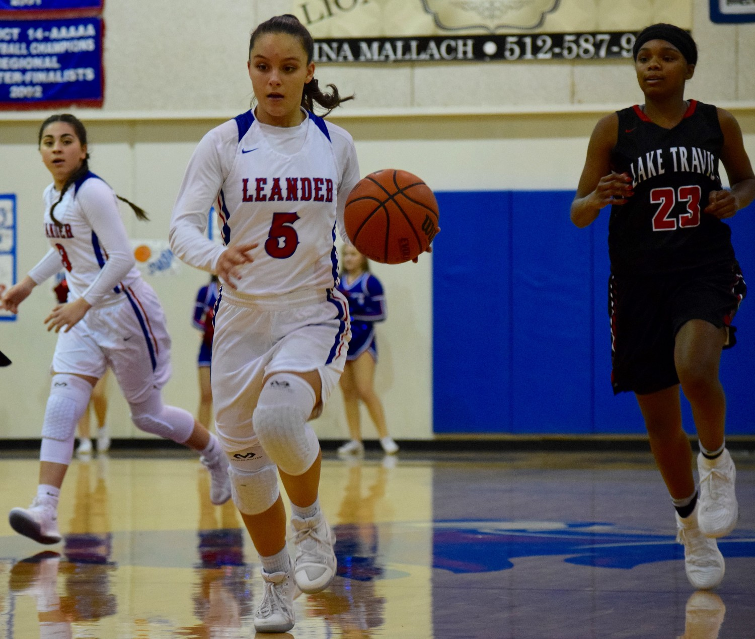 Mikaela Noe and Leander lost to Lake Travis 40-26 on Tuesday night.