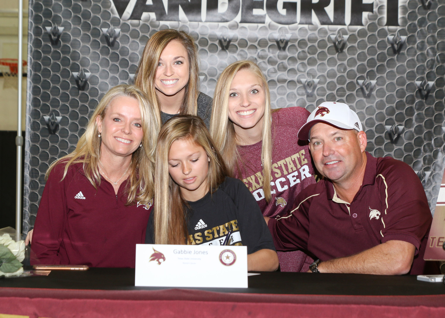 Gabbie Jones signed a letter of intent to play soccer at Texas State University during a signing day ceremony at Vandegrift High School on February 7, 2018.