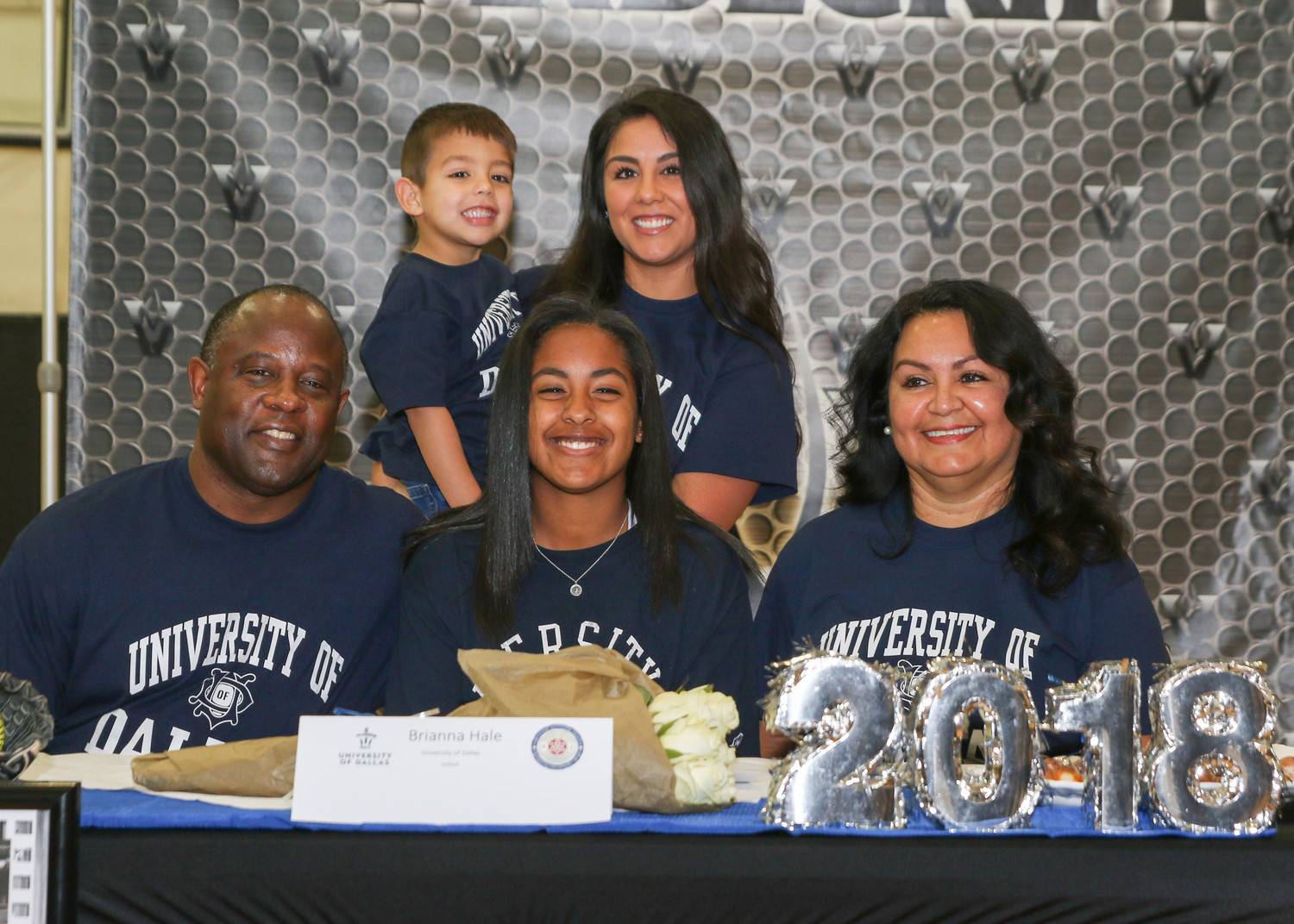 Brianna Hale signed a letter of intent to play softball at the University of Dallas during a signing day ceremony at Vandegrift High School on February 7, 2018.