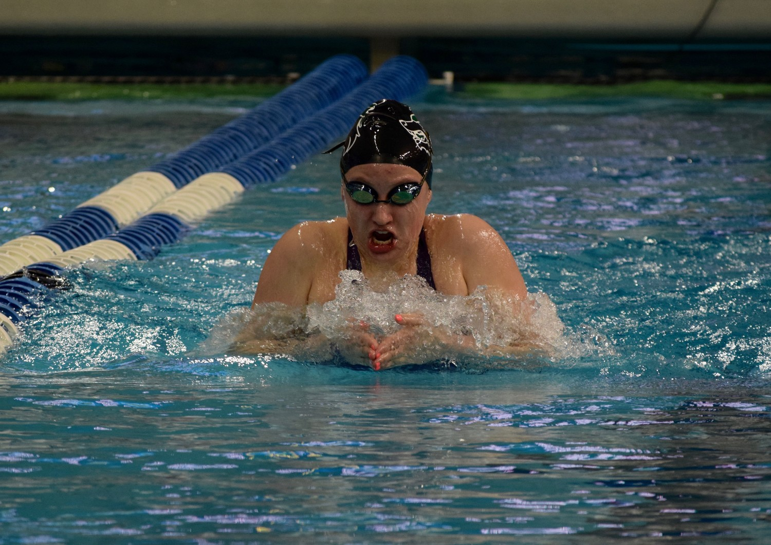 Lauren Partridge is in the state final after placing in the top eight in the girls' 400-yard medley relay and the 100-yard breaststroke on Friday.