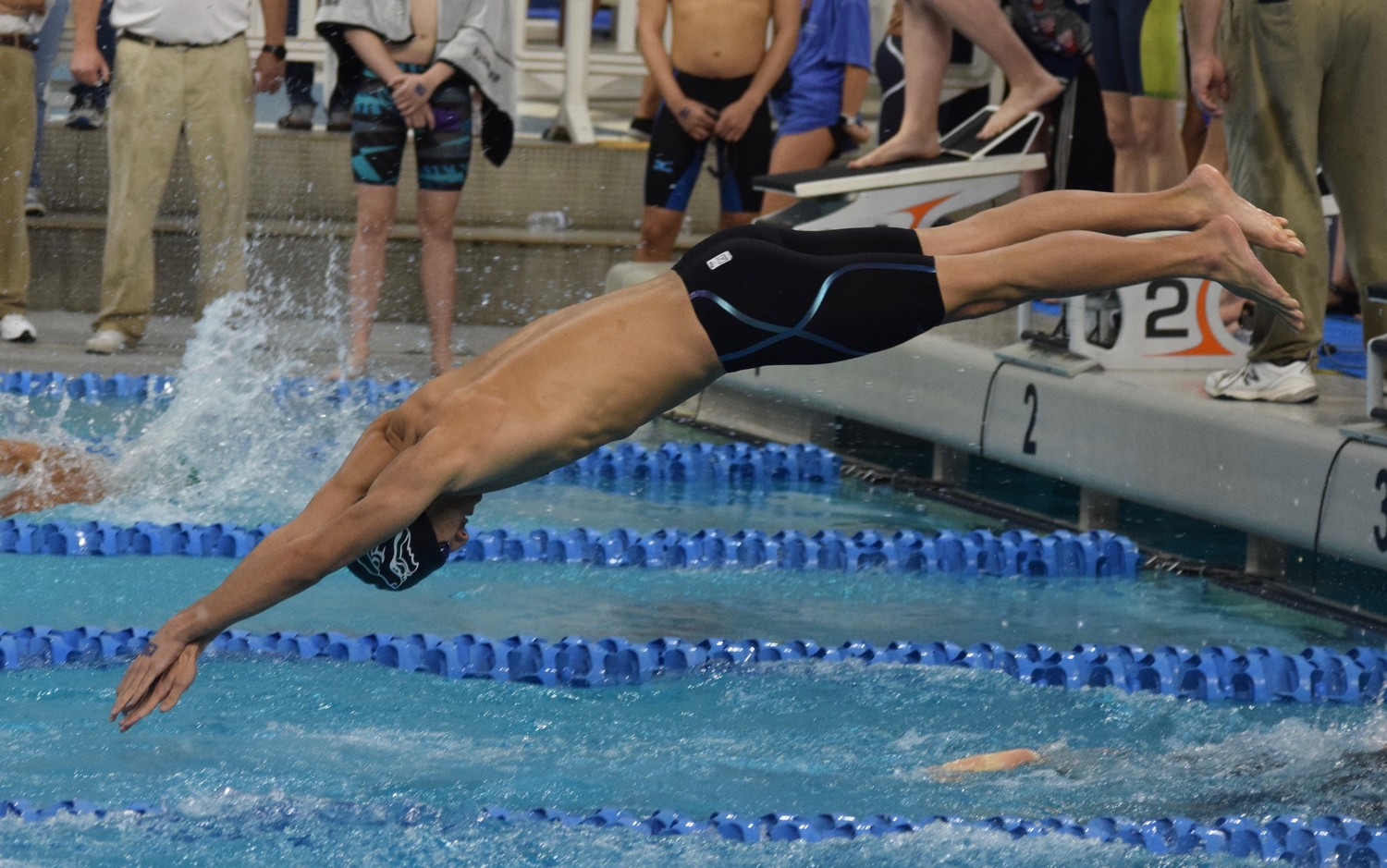 Dominic Toledo Sanchez qualified for the state final in all four events he competed in Friday afternoon at the Swimming & Diving State Meet.