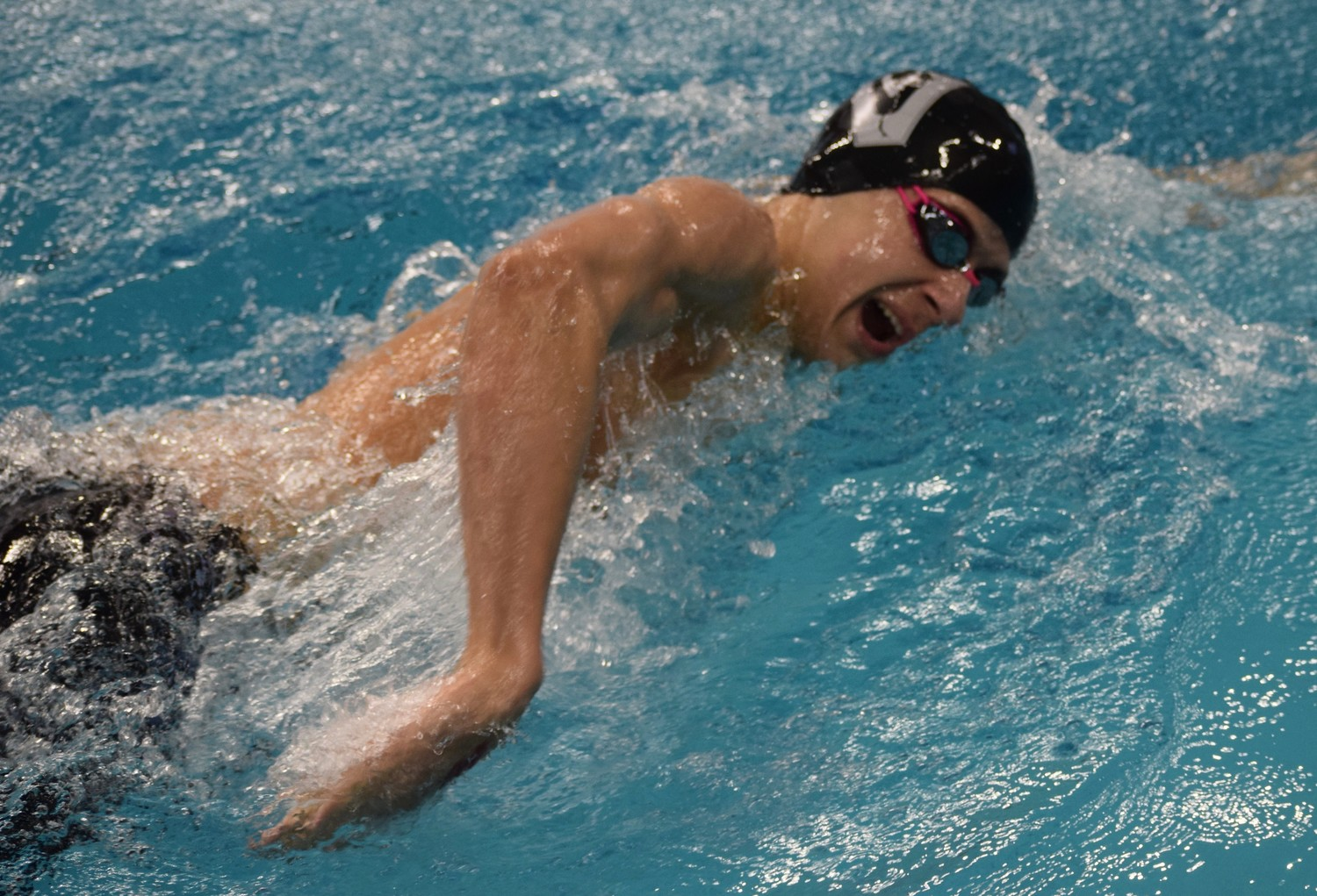 Kevin Hammer swam the 50-yard freestyle in 20.90 and finished in sixth place.