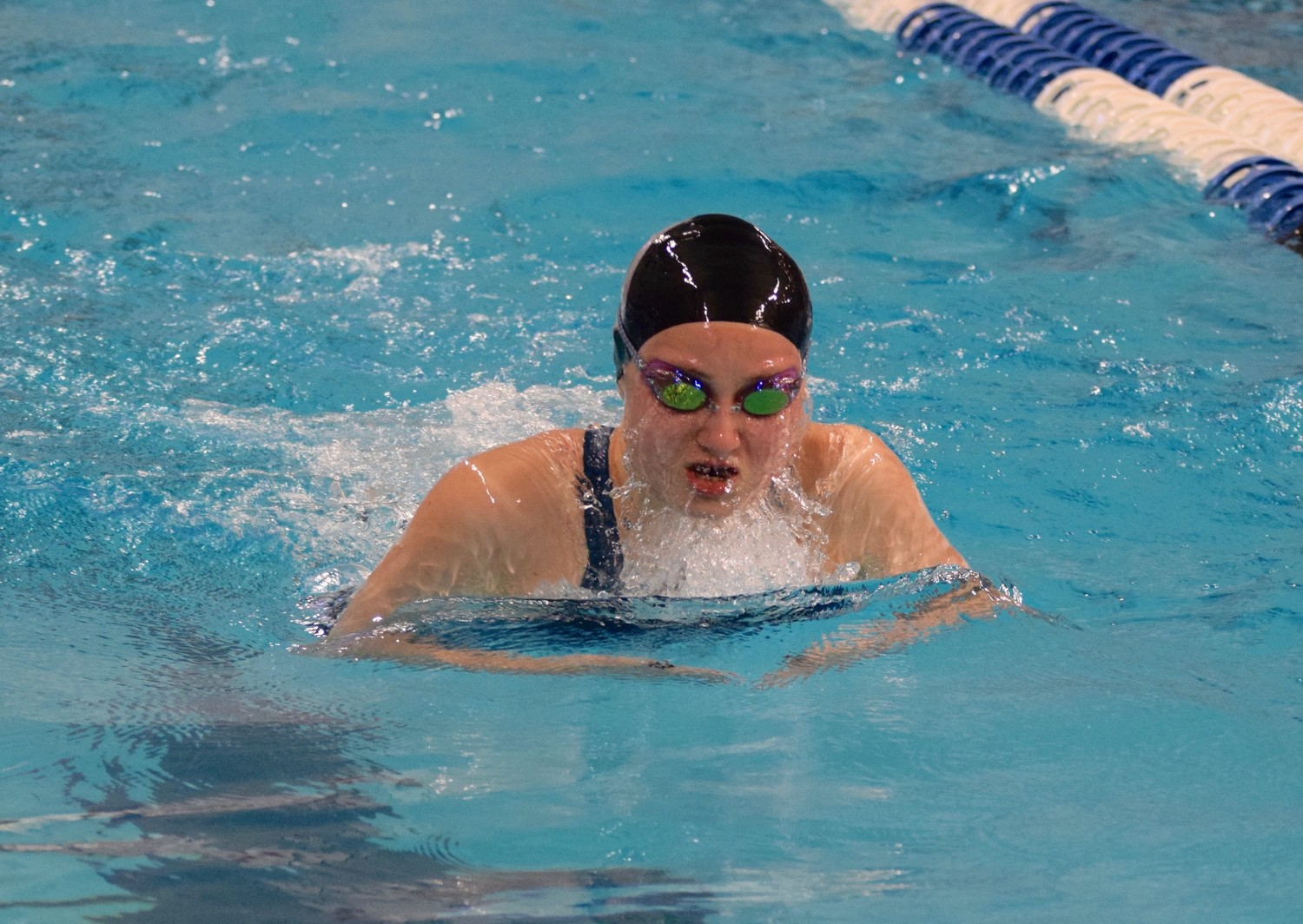 Julia York helped the girls' 200-yard medley relay finish in 14th place with a time of 1:48.87 to earn a spot in the consolation final.