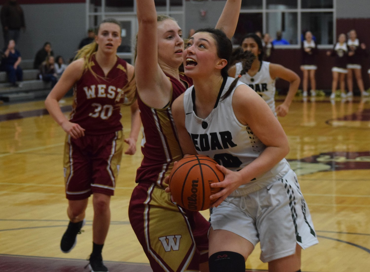 Nicole Leff and Cedar Park made it to the regional semifinals for the first time in school history and pushed their winning streak to 16 games on Tuesday night with a 58-31 win against Magnolia West 58-31 at Flatonia High School.