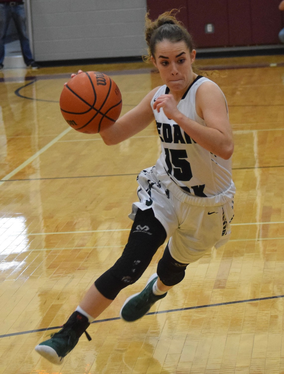 Kilee West and Cedar Park made it to the regional semifinals for the first time in school history and pushed their winning streak to 16 games on Tuesday night with a 58-31 win against Magnolia West 58-31 at Flatonia High School.