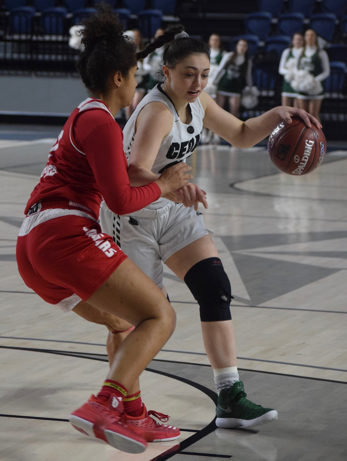 Nicole Leff and Cedar Park lost to Crosby 53-47 at the Delmar Fieldhouse in the regional semifinals.