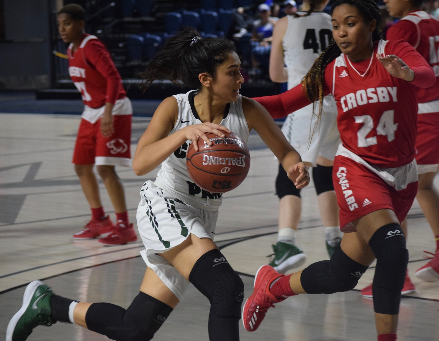 Pujita Shukla and Cedar Park lost to Crosby 53-47 at the Delmar Fieldhouse in the regional semifinals.