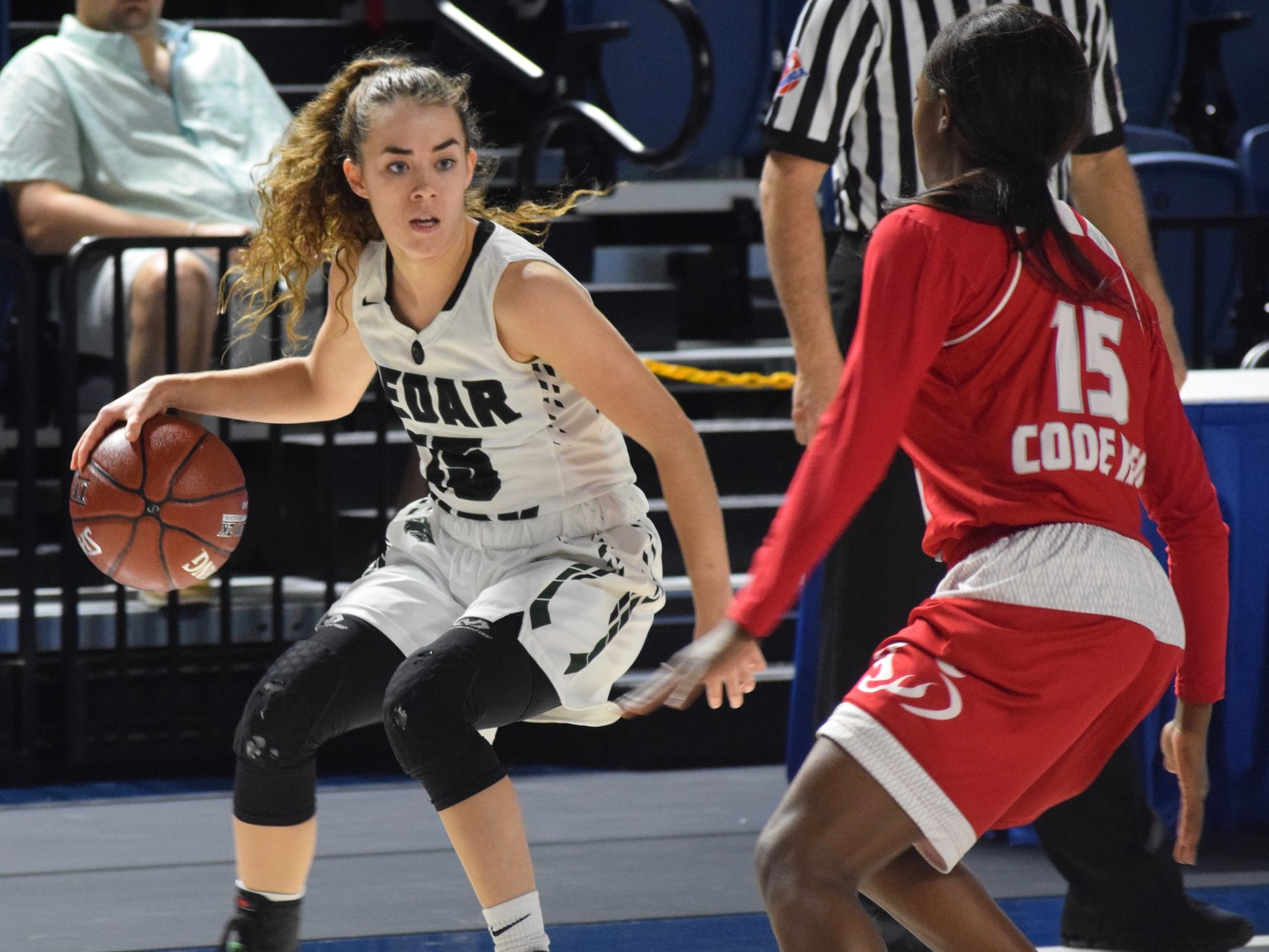 Kilee West and Cedar Park lost to Crosby 53-47 at the Delmar Fieldhouse in the regional semifinals.