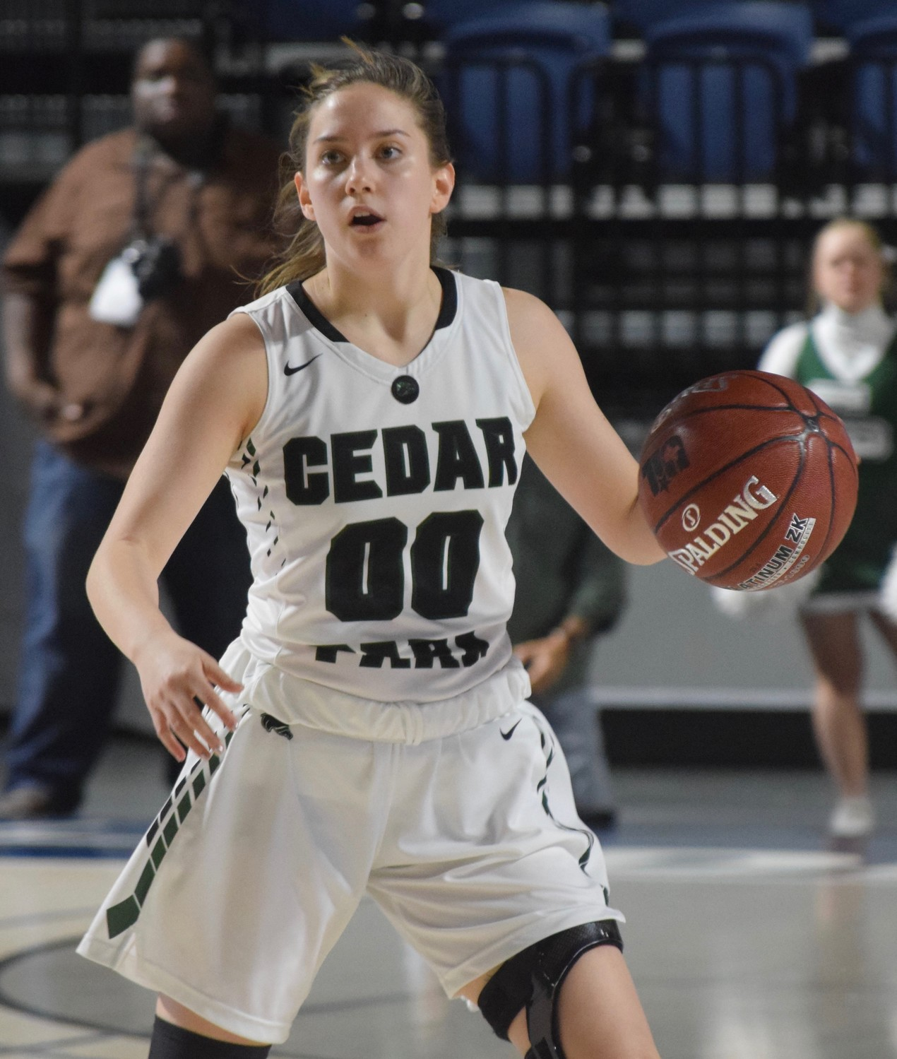 Hannah Wheeler and Cedar Park lost to Crosby 53-47 at the Delmar Fieldhouse in the regional semifinals.