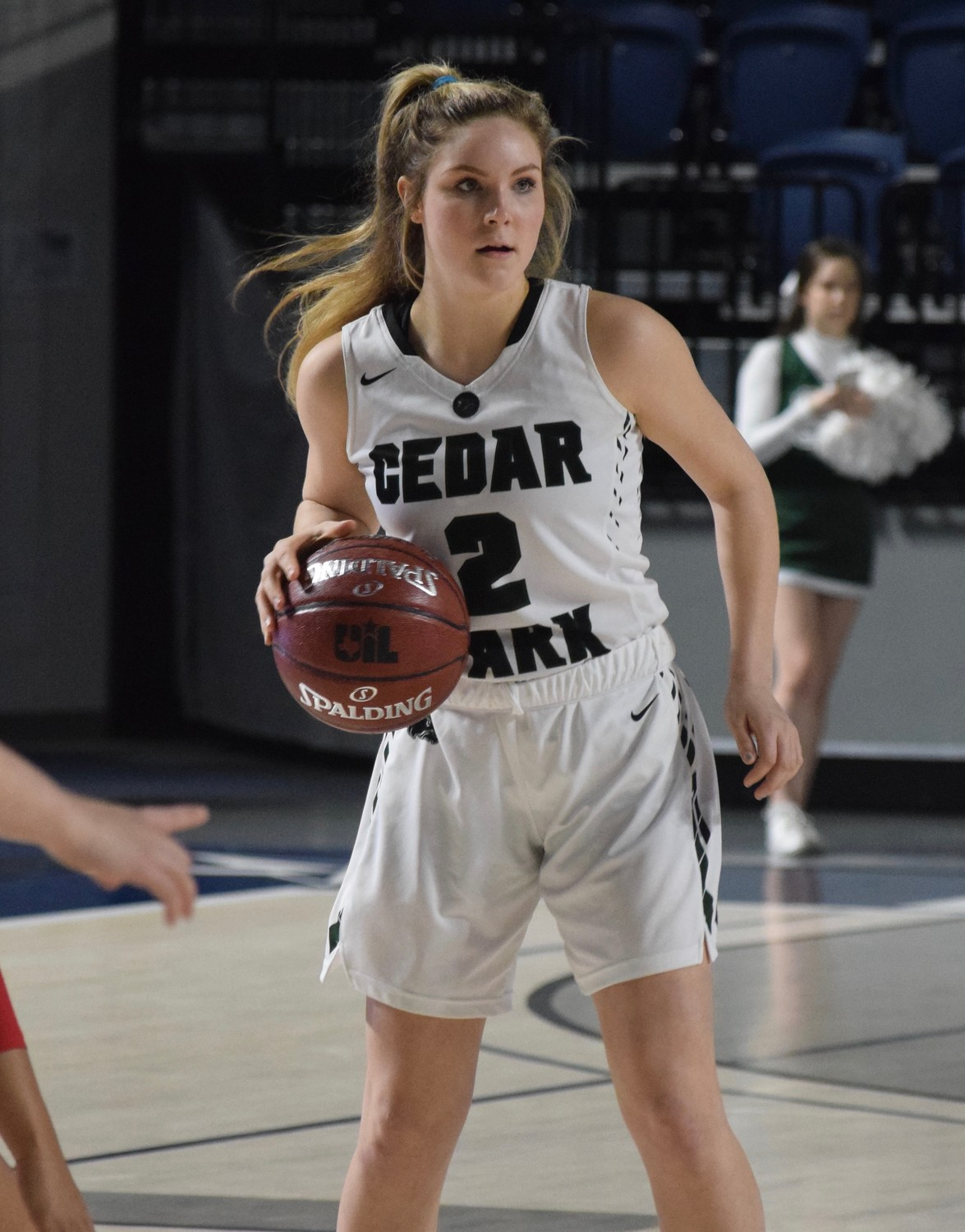 Cedar Park senior Jordan Ott was named the District 19-5A co-MVP with teammate Nicole Leff. The Lady Timberwolves made it to the regional semifinals for the first time in school history this season.