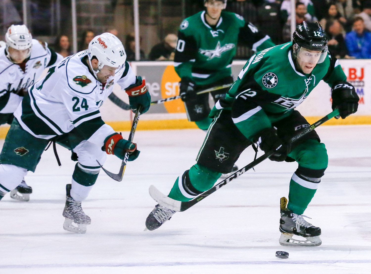 Colin Markison scored a goal and had two assists and the Texas Stars beat the Iowa Wild 4-2 at home on Wednesday night.