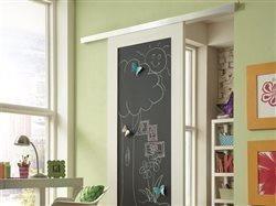 Playroom upgrade: A wall-mount 'barn door' makes more room for fun