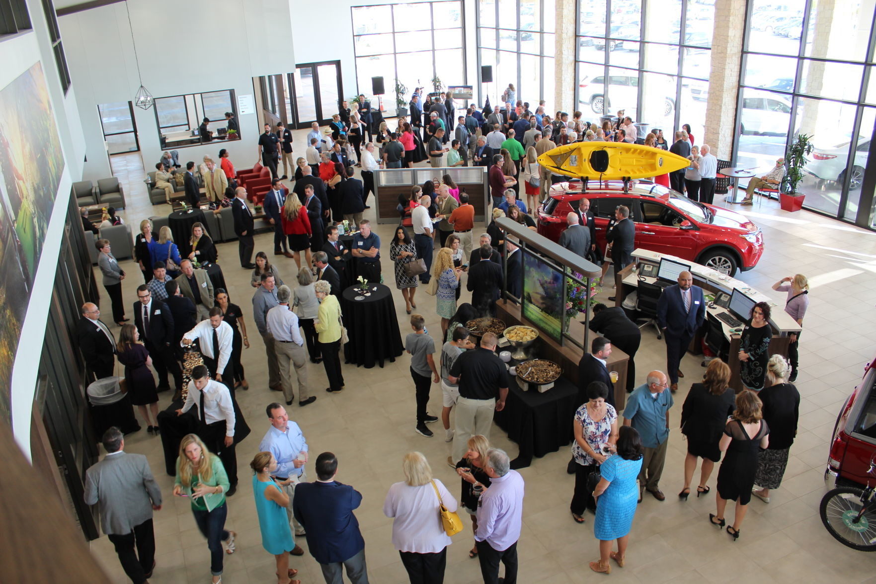 About 200 Community Members Turned Out For The Grand Opening Ceremony Toyota Of Cedar Park