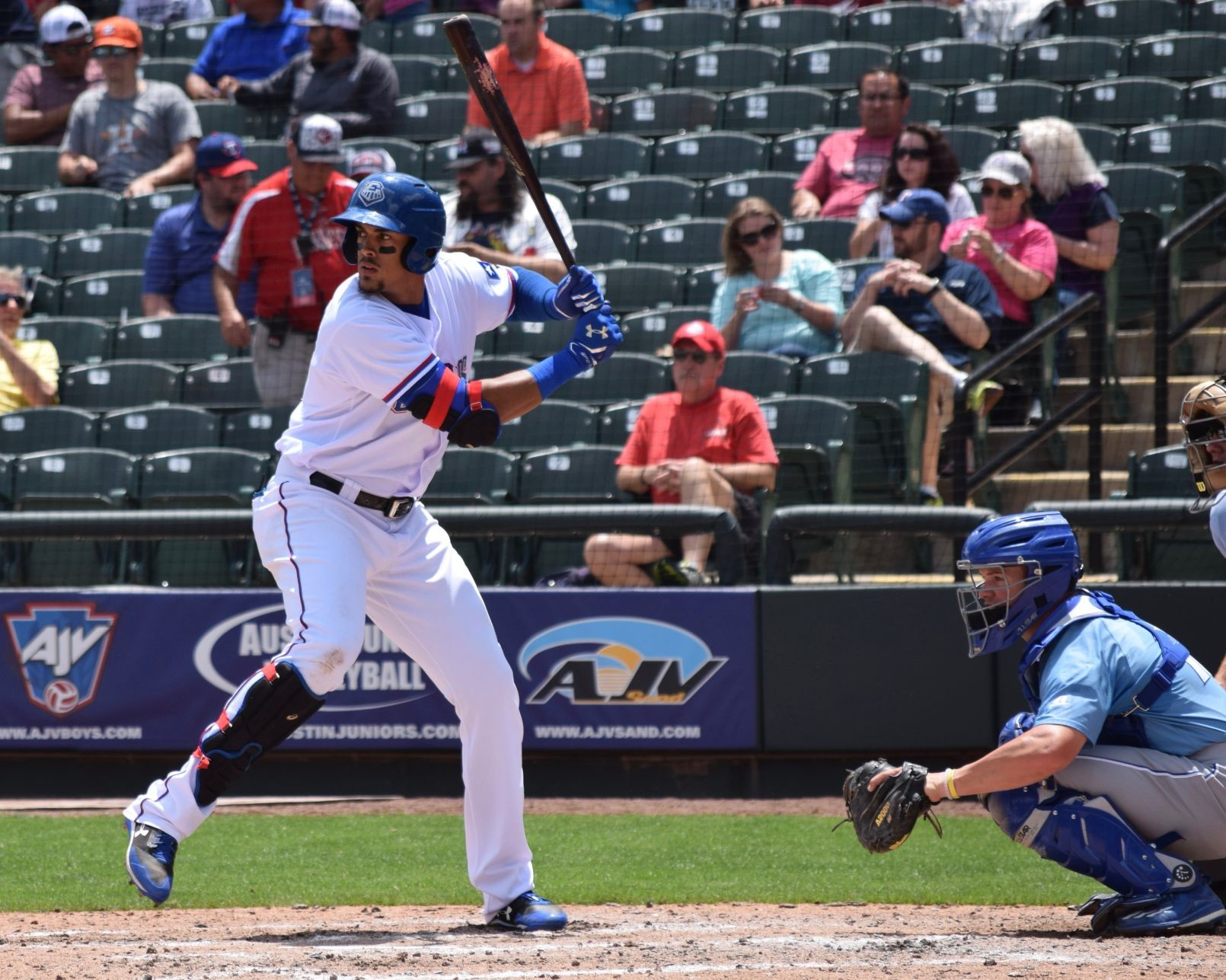 Ronald Guzman was signed as an international free agent by the Rangers in 2011 and signed a $3.5 million bonus. This is his first full season with the Express and on the Rangers' 40-man roster.
