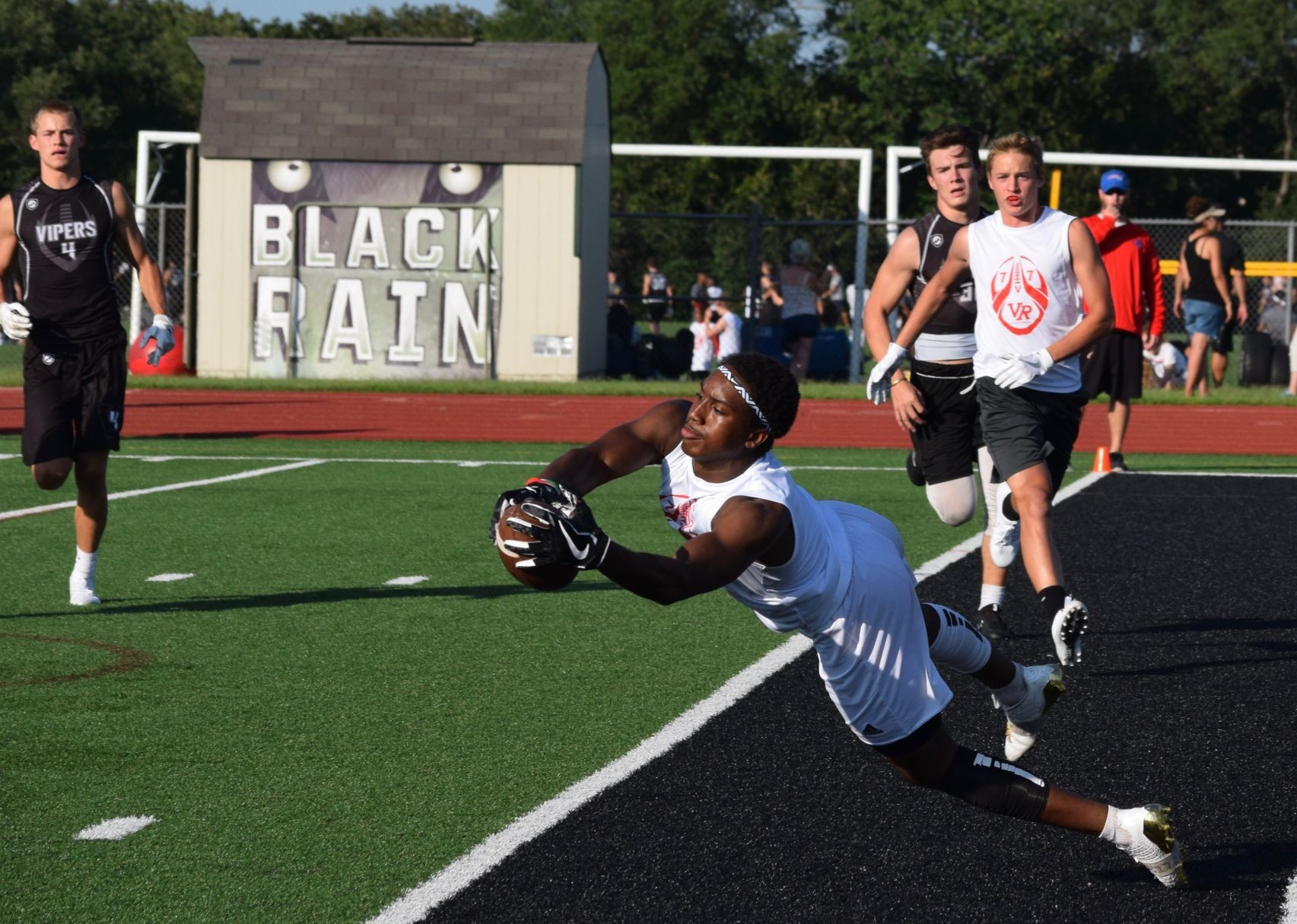 Senior receiver Jamil Pittman caught 29 passes for 488 yards and two touchdowns with a pair of 100-yard games last season. He is the main target for the Rangers' 7-on-7 team.