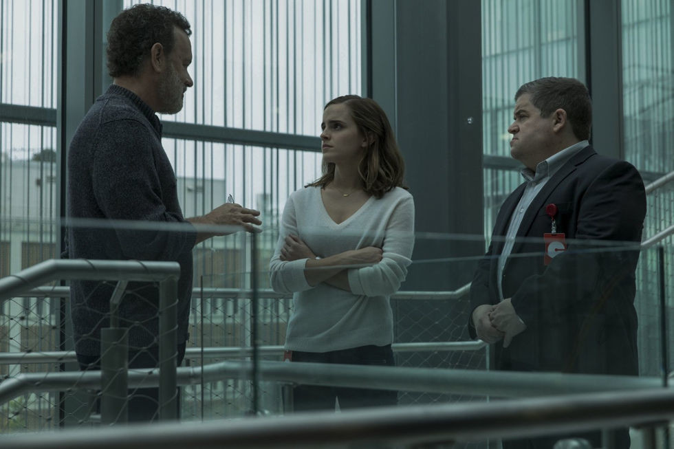 "Tom Hanks, Emma Watson and Patton Oswalt star in ""The Circle,"" in area theaters now."