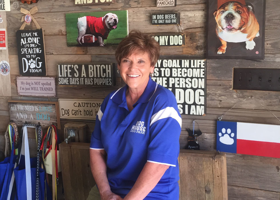 Melissa Barton, owner of the Dog House Drinkery and Dog Park in Leander, is part of a growing national trend by pet entrepreneurs who want to offer gathering places where dogs and their owners can socialize together, while the owners have a drink or enjoy a game on television.