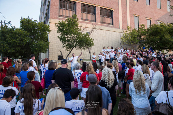 Hundreds of Greg Kelley's supporters gathered outside the Williamson County jail in 2014 to protest what they say is a wrongful conviction, in hopes of drawing enough attention that state officials might consider reviewing the case.