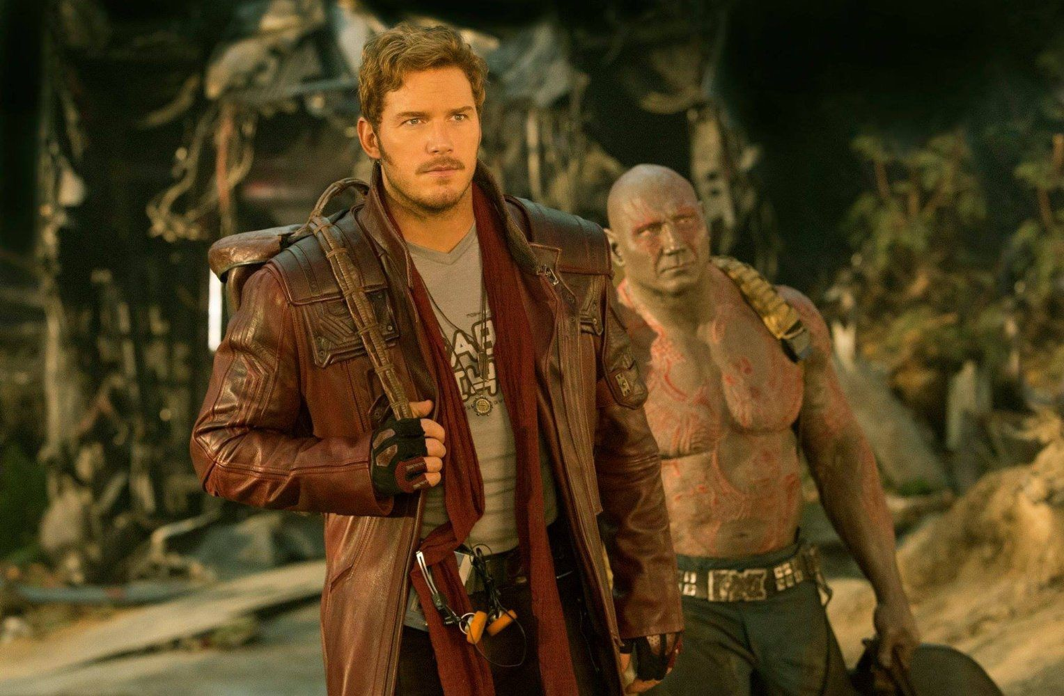 Chris Pratt and Dave Bautista return to the big screen in 'Guardians of the Galaxy Vol. 2,' the sequel to 2014's blockbuster hit set in the Marvel Cinematic Universe.