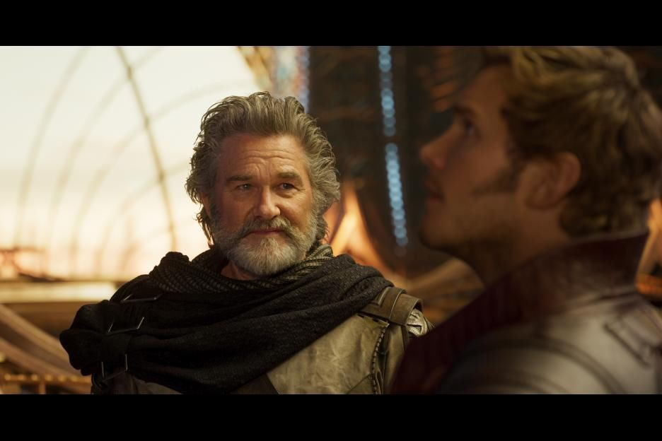 Kurt Russell and Chris Pratt star in 'Guardians of the Galaxy Vol. 2'