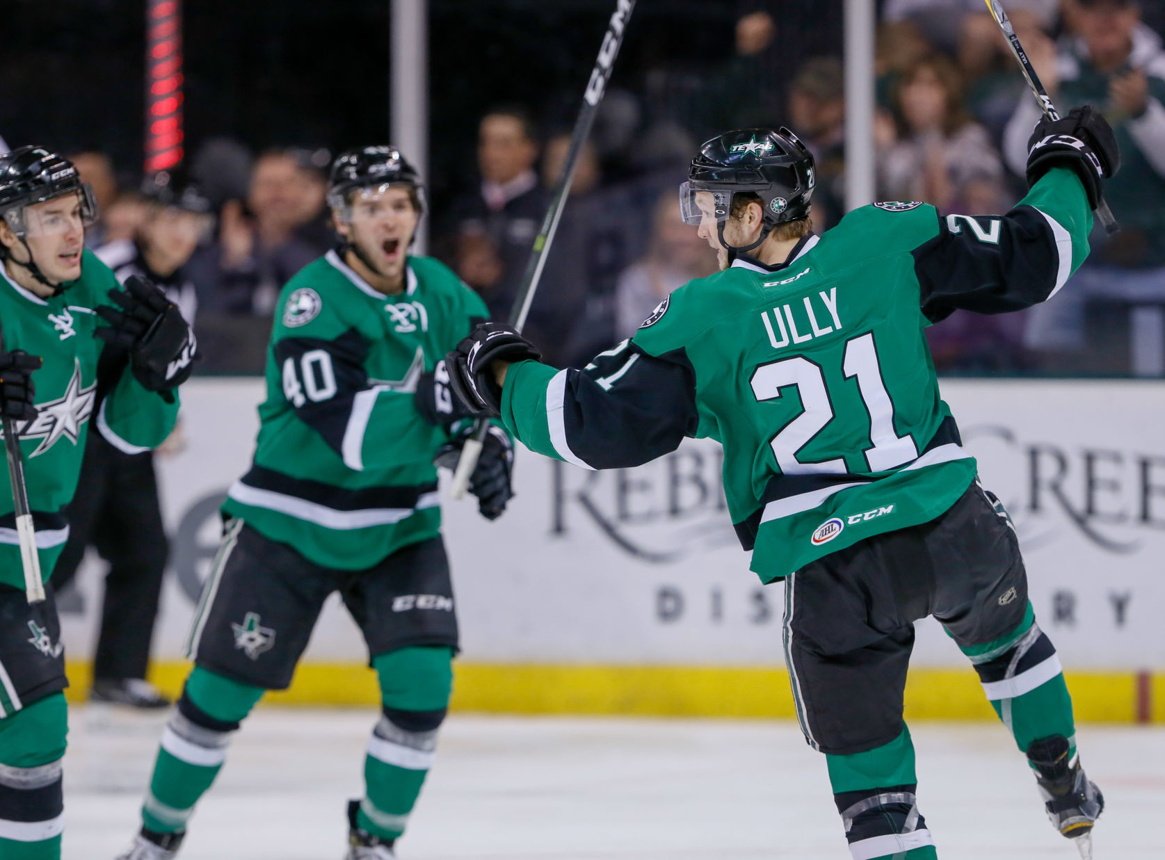 Cole Ully scored a goal and had an assist and the Texas Stars beat the Bakersfield Condors 4-3 Tuesday night at the H-E-B Center.