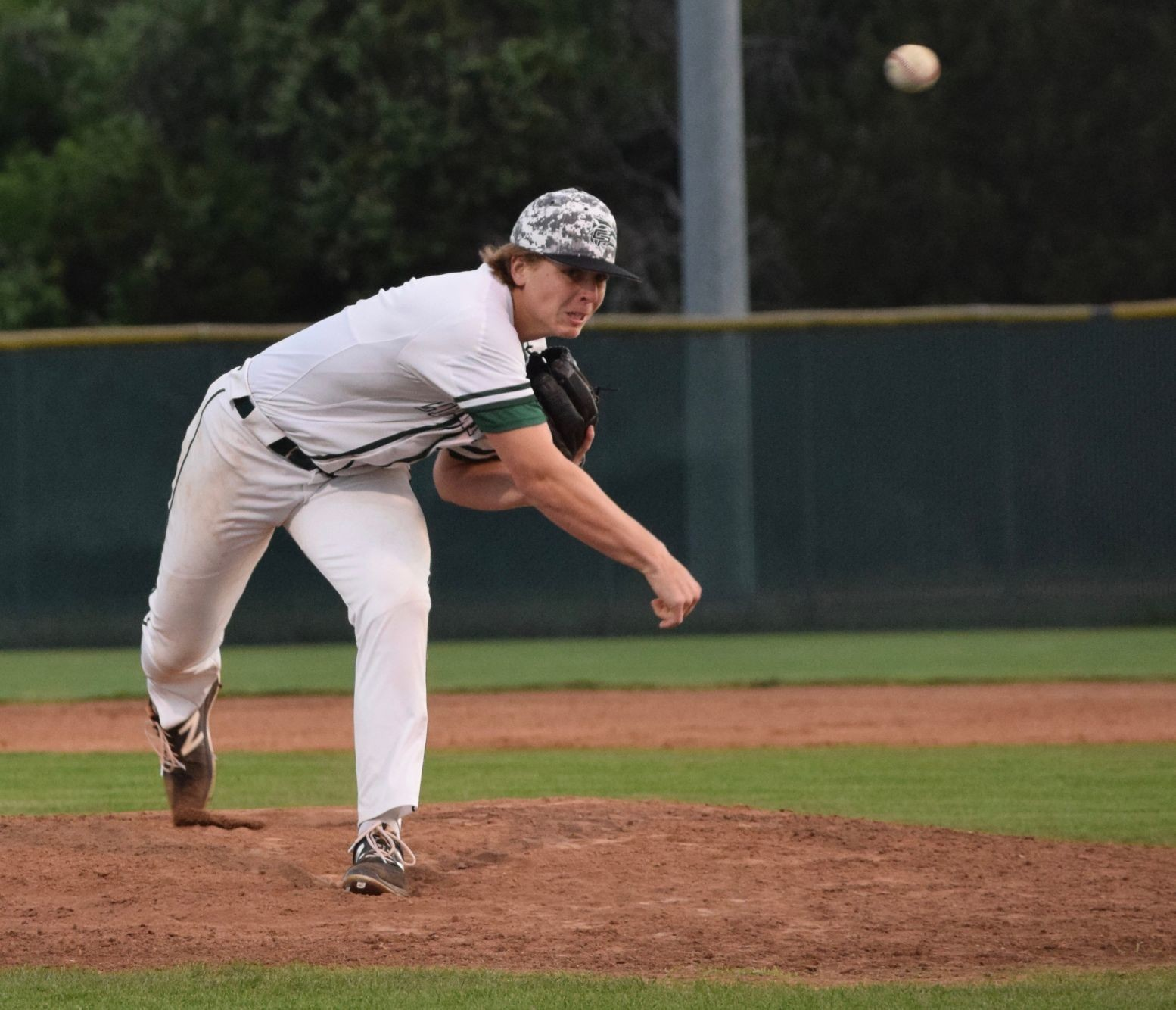 Cedar Park starting pitcher Mak Sexton threw 6.2 innings en route to a 3-1 win at home against Georgetown Tuesday night.