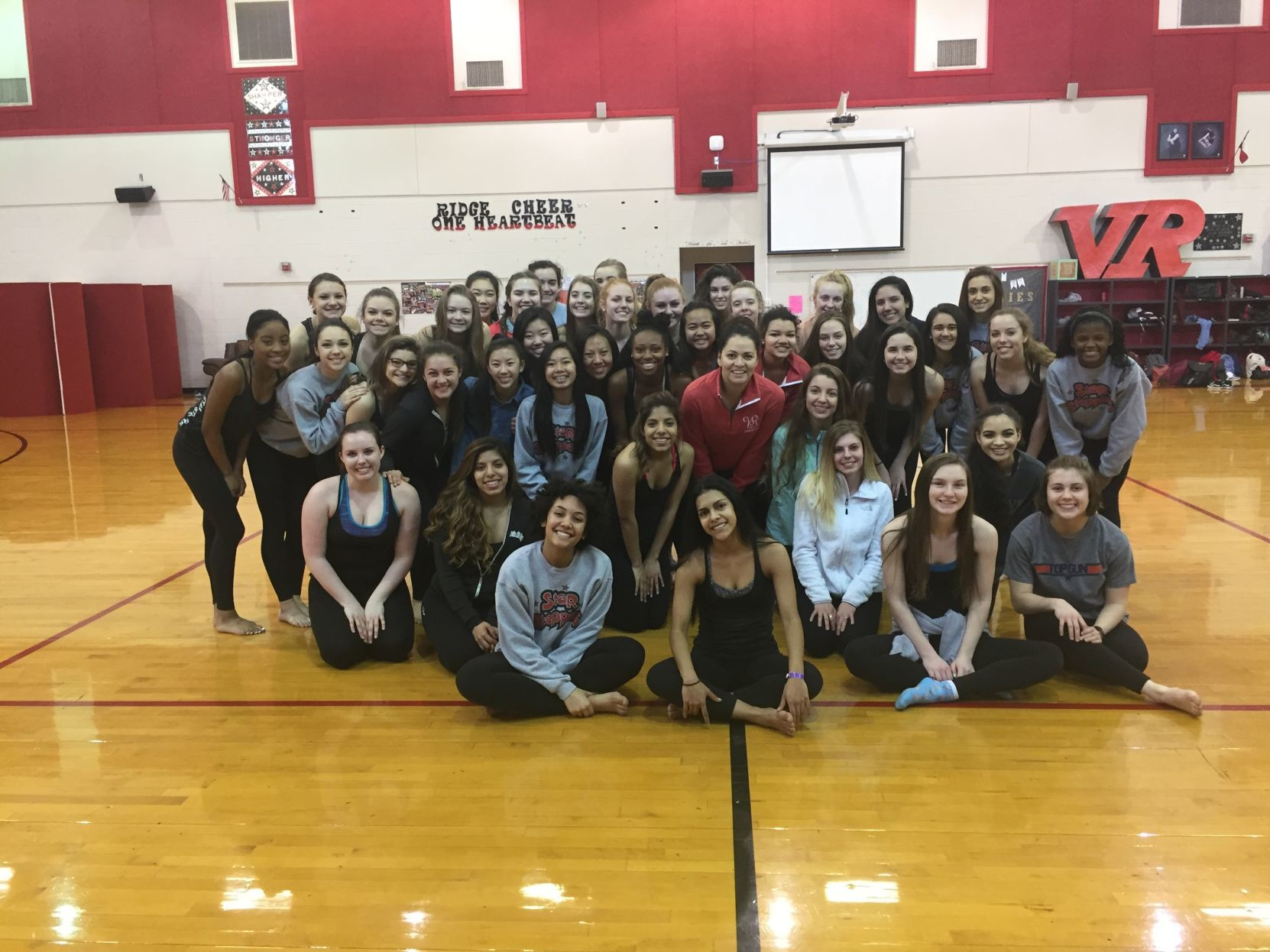 Araceli Lopez, Vista Ridge High School dance director, and her team.