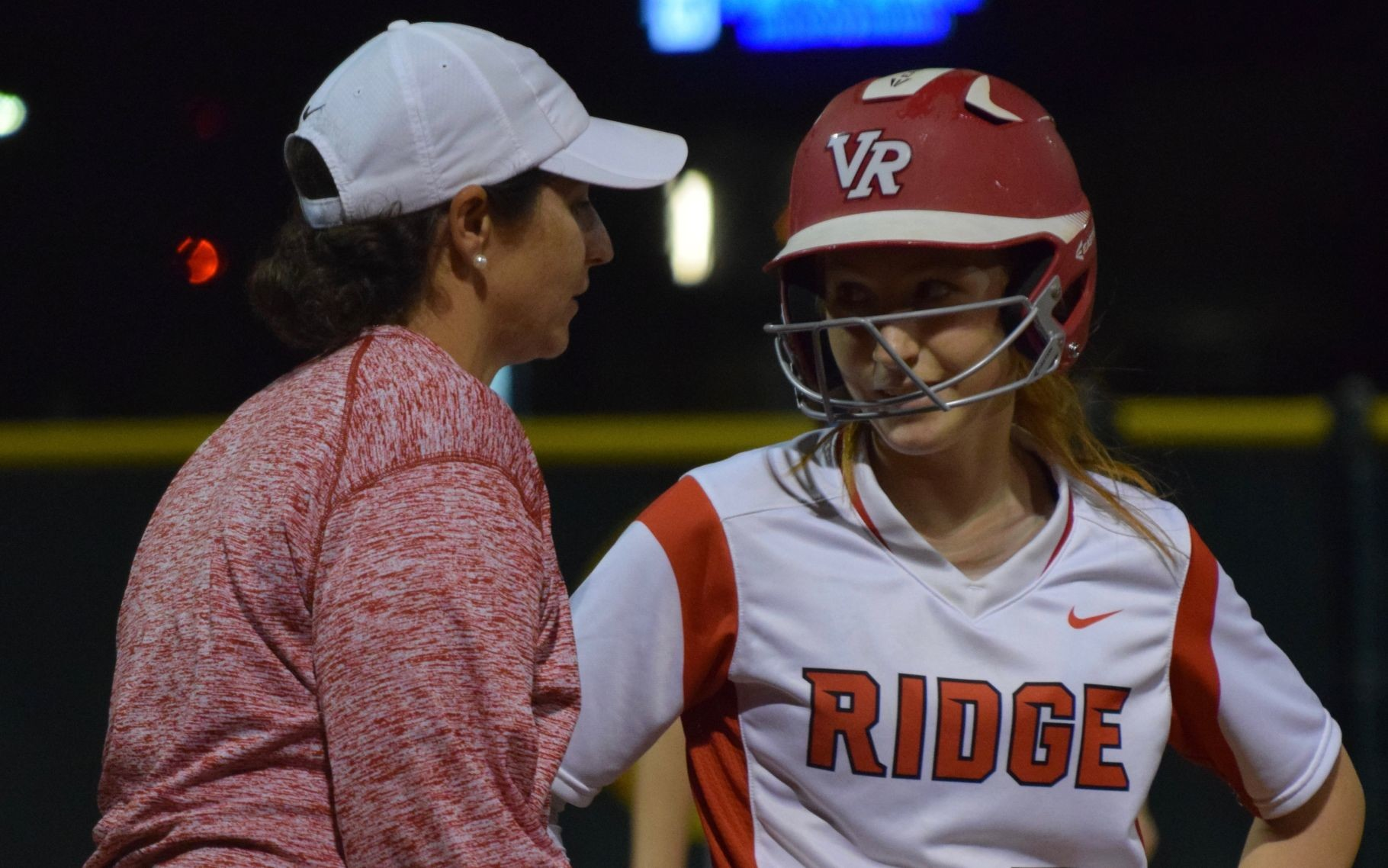Vista Ridge coach Lauren Myrick, left, said Nicole Nickdow is the strongest player she has ever coached.