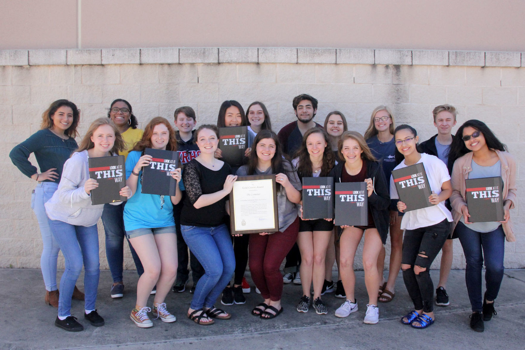 The Vista Ridge yearbook staff won a Gold Crown award at the Columbia Scholastic Press Association convention on March 17.