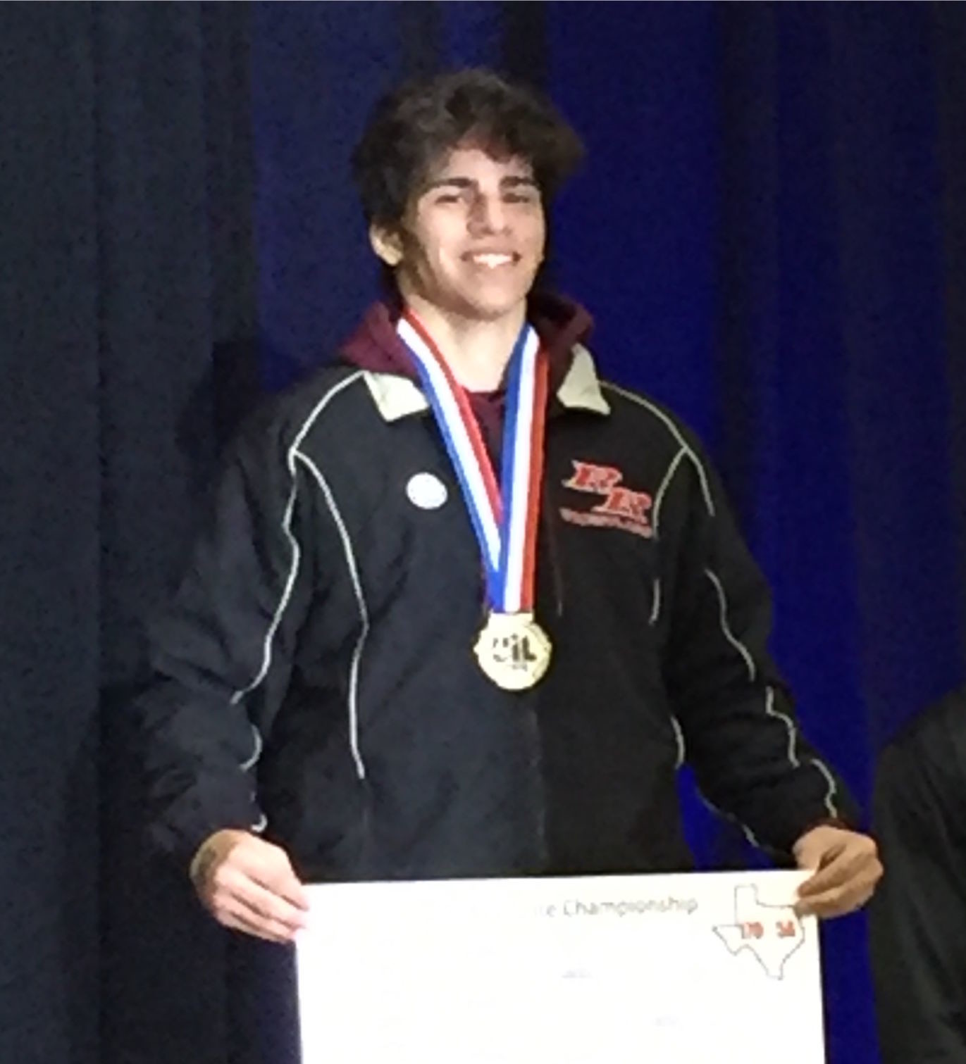 Dylan Rowling won the state title in the 170-pound weight class at the Berry Center in Houston on Saturday.